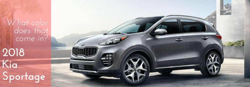 Which Color Options Are Available For The 2018 Kia Sportage?