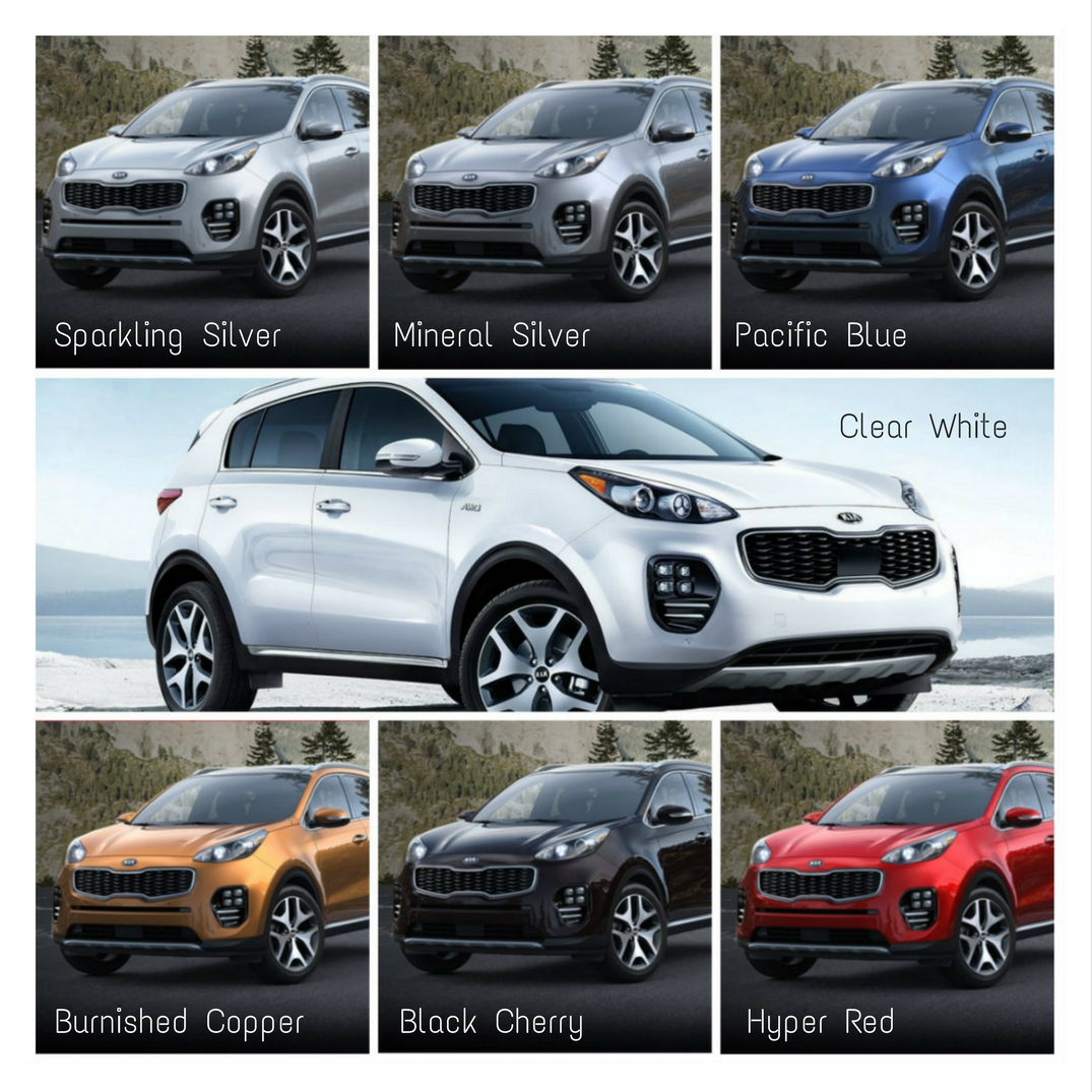 which color options are available for the 2018 kia sportage. Black Bedroom Furniture Sets. Home Design Ideas