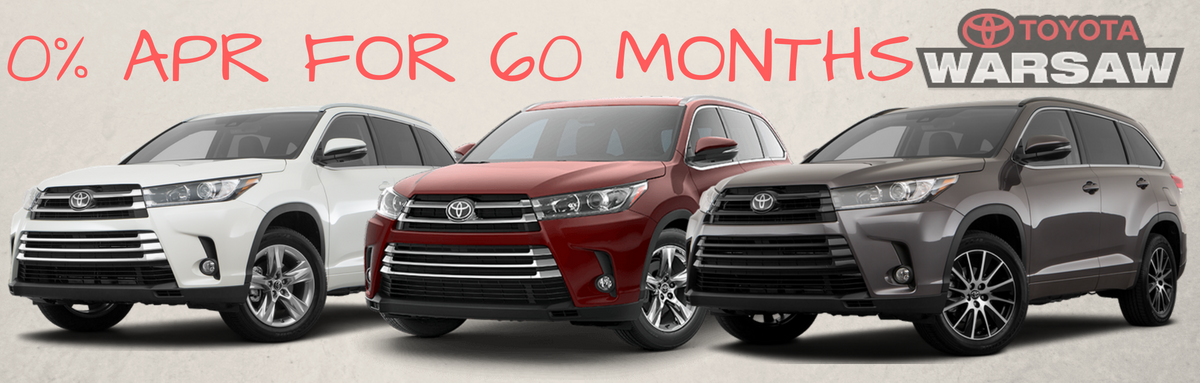 0% Interest Financing on the 2018 Toyota Highlander: Get it While it Lasts!