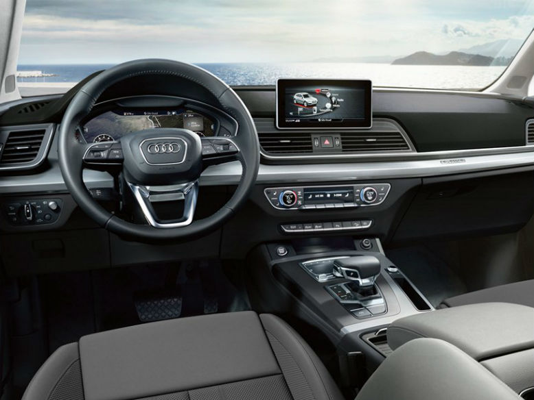 2018 Audi Q5 Interior Shot On Beach Looking Out Near Wynnewood