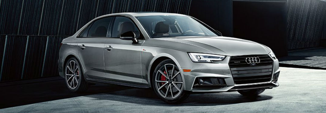 2019 Audi A4 parked showing front and side profile