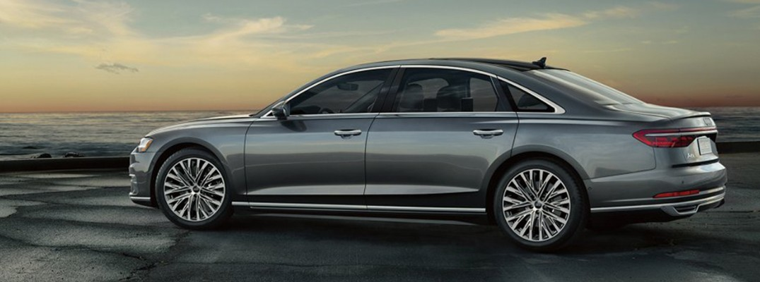 Profile view of 2019 Audi A8