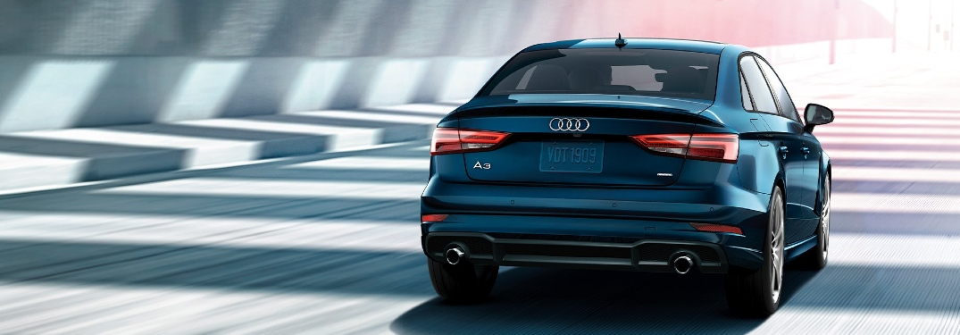 2020 Audi A3 driving awafy from camera