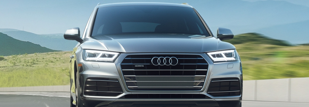 2020 Audi Q5 driving on the road