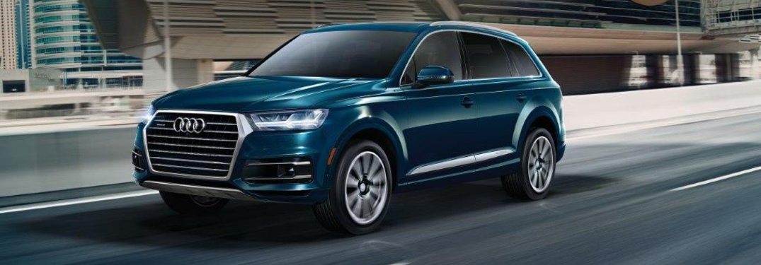 2019 Audi Q7 PRestige driving on city interstate