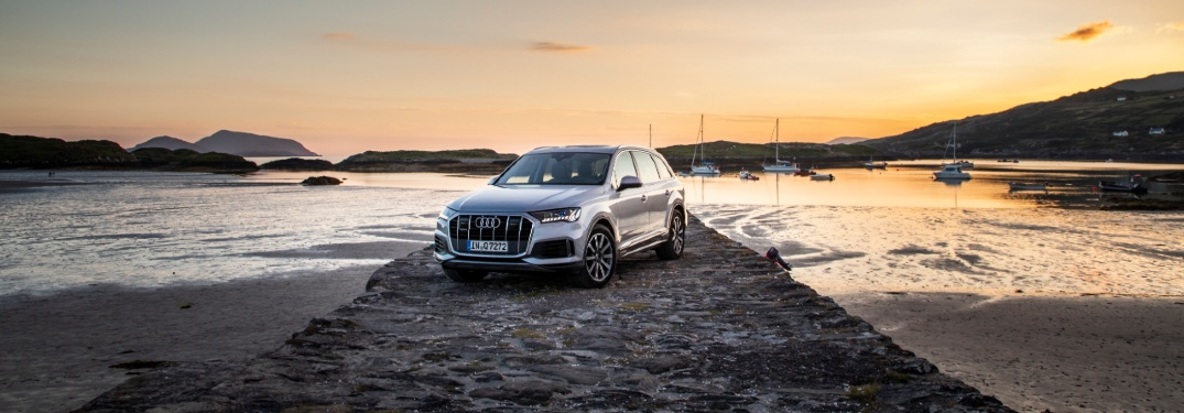 2020 Q7 parked on a stone pier
