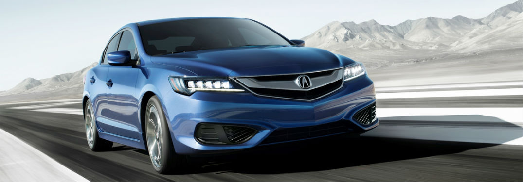 2018 acura ilx special edition driving fast on track blue color near cleveland oh_o