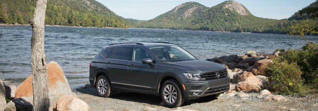 2018 Volkswagen Tiguan parked by a lake