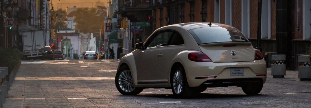 2019 Volkswagen Beetle Final Edition parked on a city street