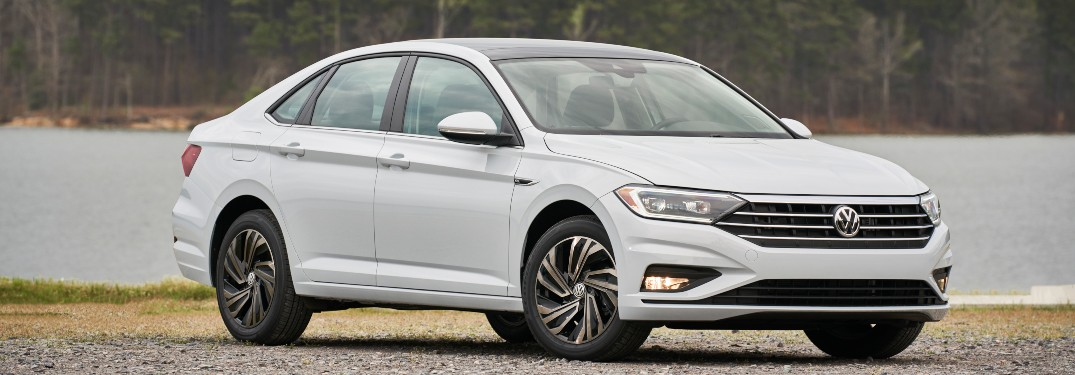 2019 Volkswagen Jetta parked in front of a river