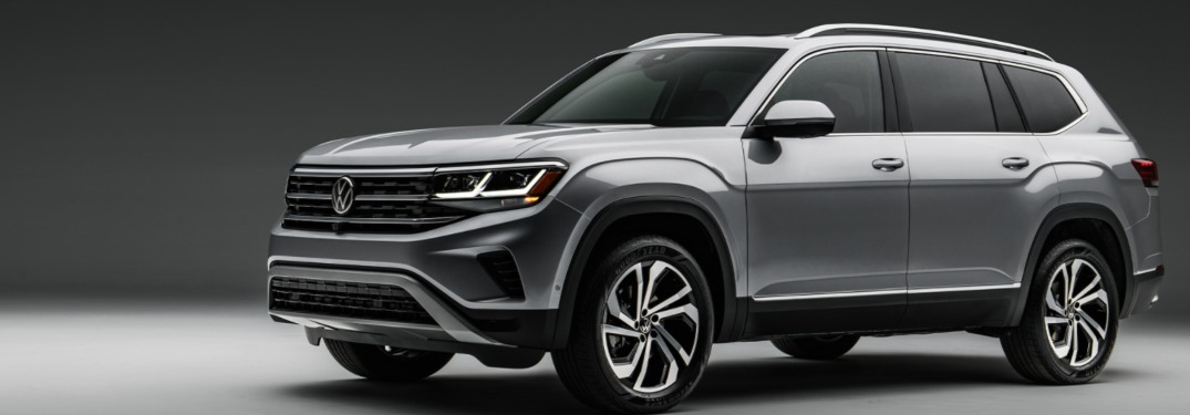 2021 Volkswagen Atlas parked over a gray background