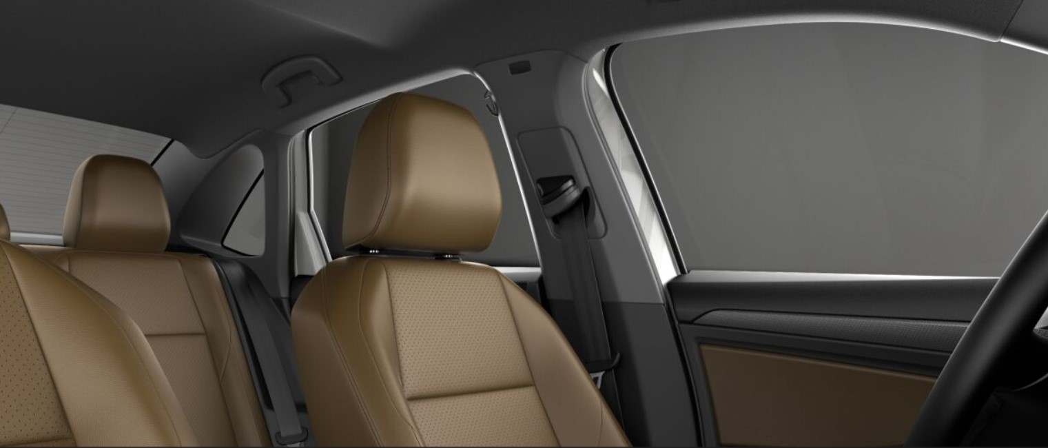 2019 VW Jetta Dark Beige V-Tex Leatherette Interior