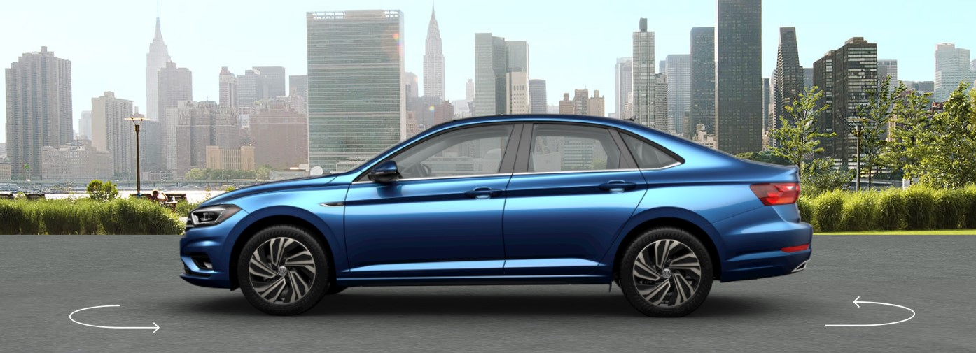 2019 VW Jetta Silk Blue Metallic Exterior