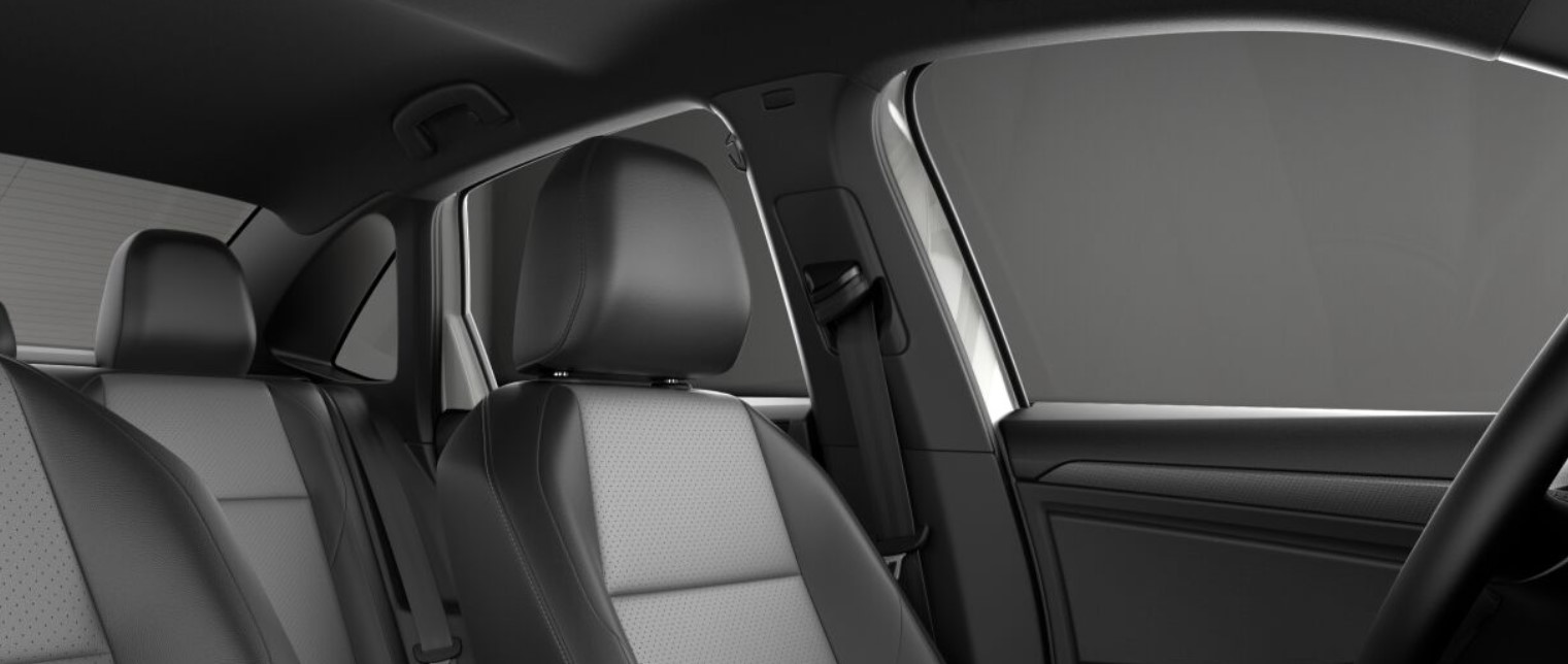 2019 VW Jetta Titan Black and Storm Gray V-Tex Leatherette interior