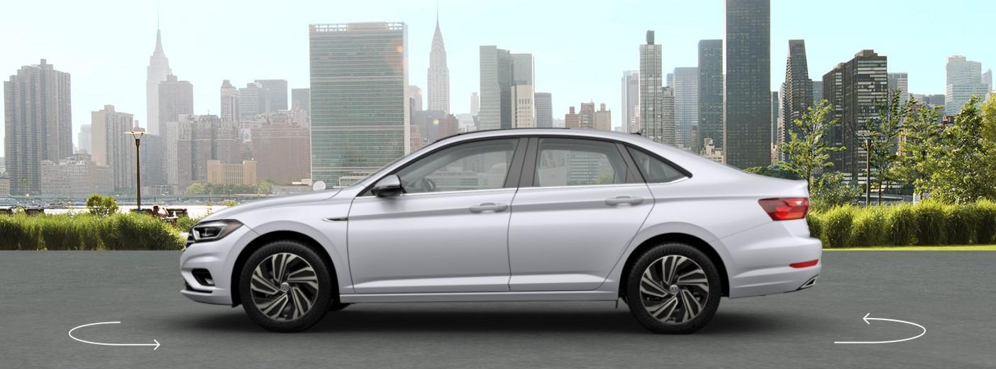 2019 VW Jetta White Silver Metallic Exterior