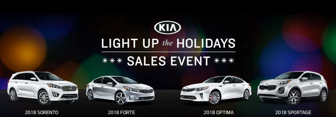 Light up the Holidays Sales event Kia vehicles