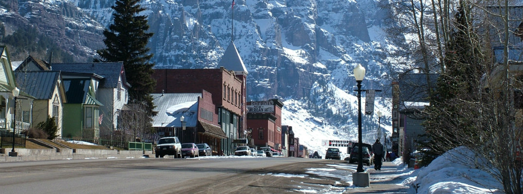 The town of Telluride, Colorado