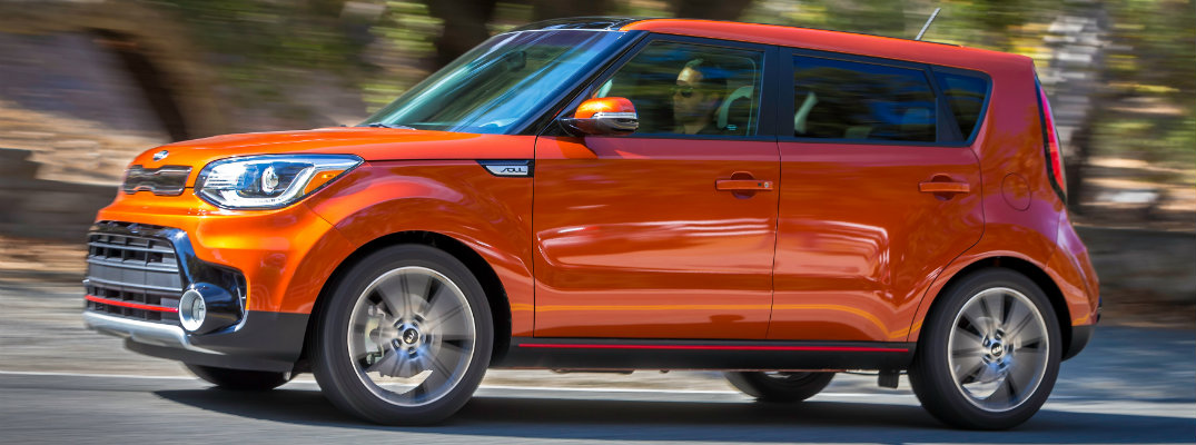 Orange-colored Kia Soul