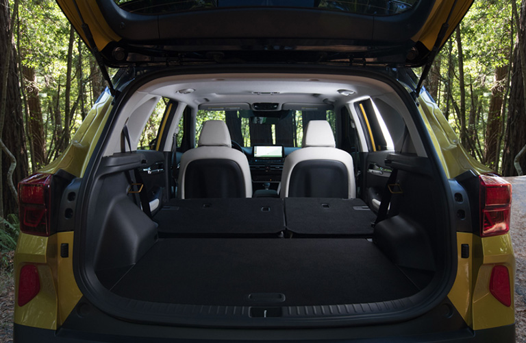 Cargo area of the 2021 Kia Seltos