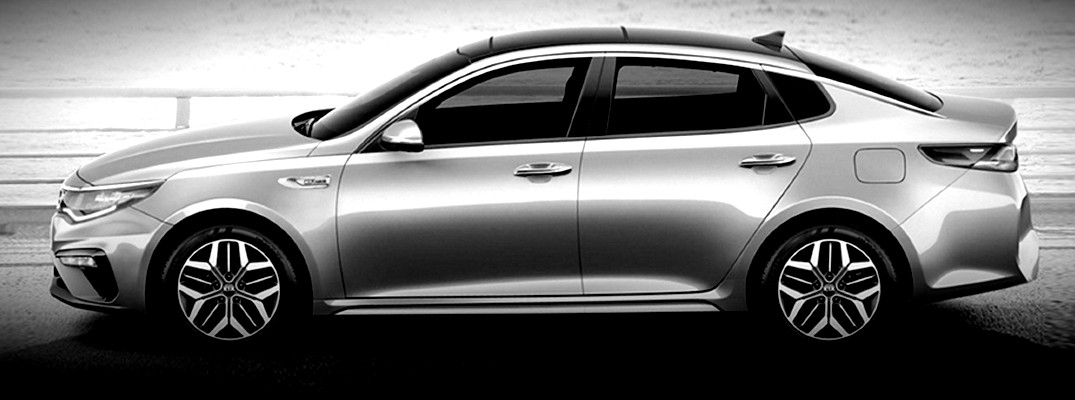 Black and White image of the 2020 Kia Optima