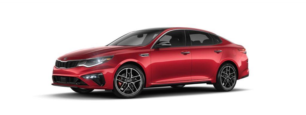 2020 Kia Optima in Passion Red