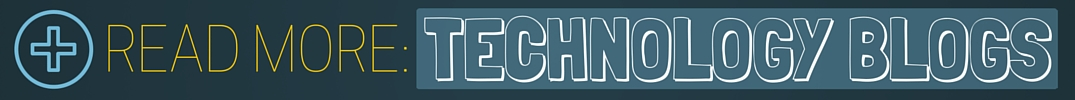 Read More Technology Blogs title with a blue and black background