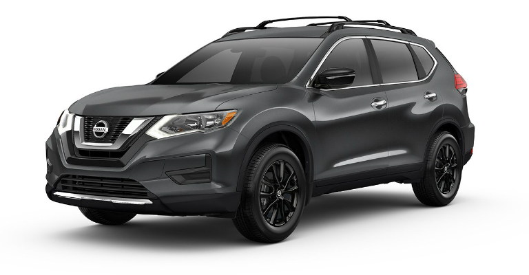 2017 Nissan Rogue Midnight Edition black
