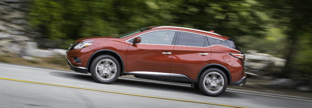 2018 Nissan Murano driving, photo at an angle