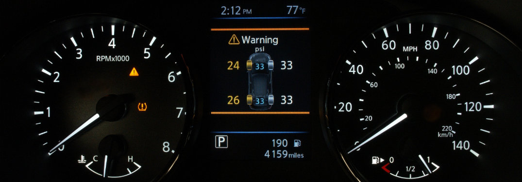 Nissan Easy-Fill Tire dashboard warning