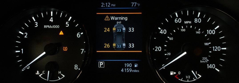 Nissan Easy-Fill Tire dashboard warning