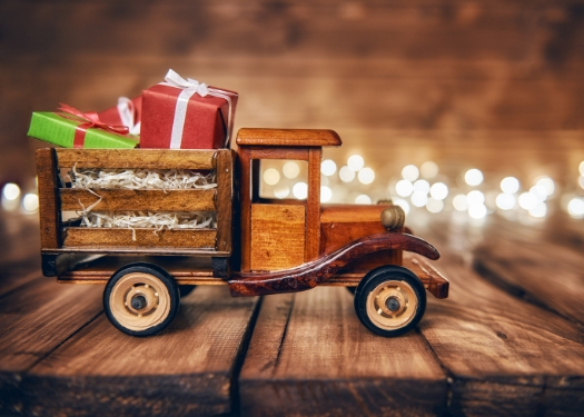 toy truck with gifts