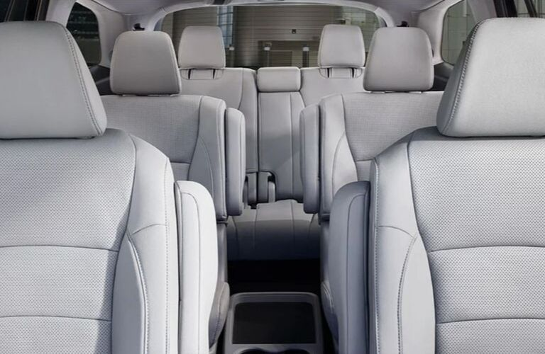 Interior view of the seating space available inside the 2020 Honda Pilot