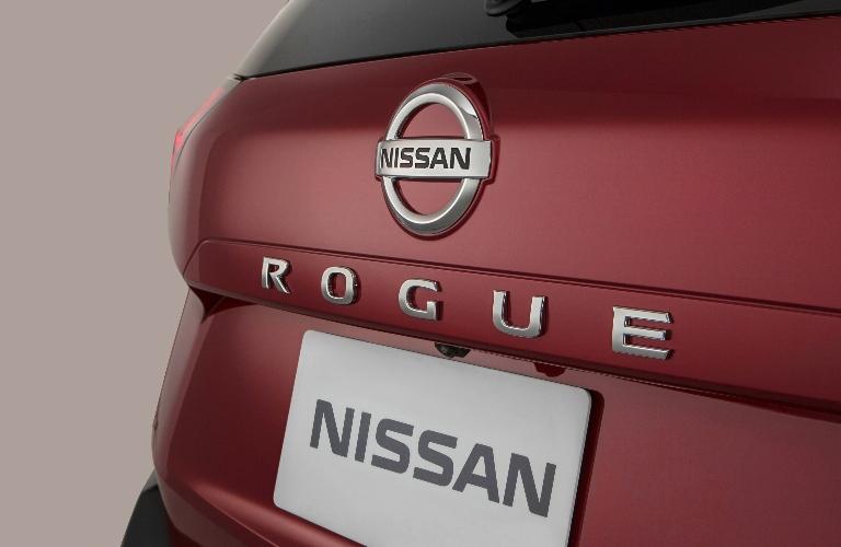 2021 Nissan Rogue back end badging