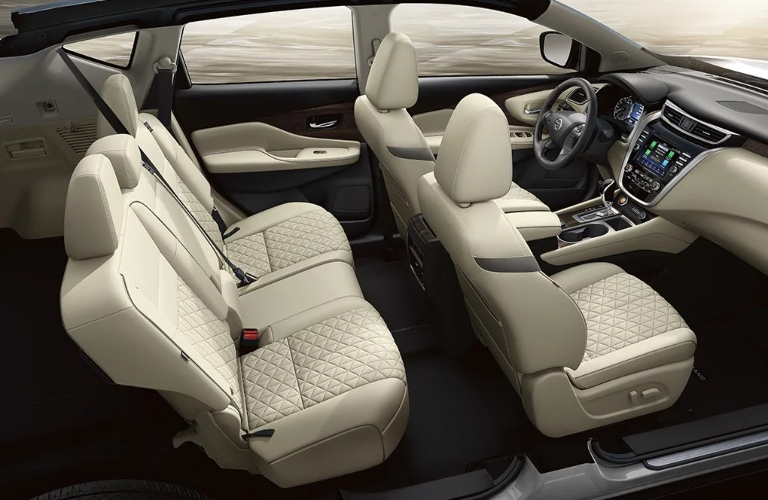 2021 Nissan Murano front and back seats
