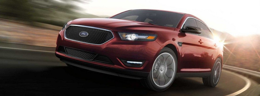 Closeup of Red 2019 Ford Taurus SHO Exterior