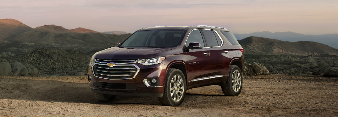 2018 Chevrolet Traverse front view black