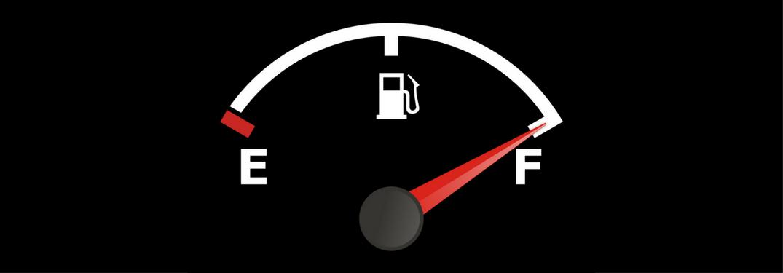 Fuel gauge on full