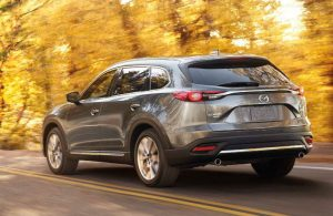 2018 Mazda CX-9 driving on a road