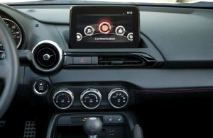 2019 Mazda MX-5 Miata MAZDA CONNECT™ infotainment system with 7-inch full-color touchscreen display
