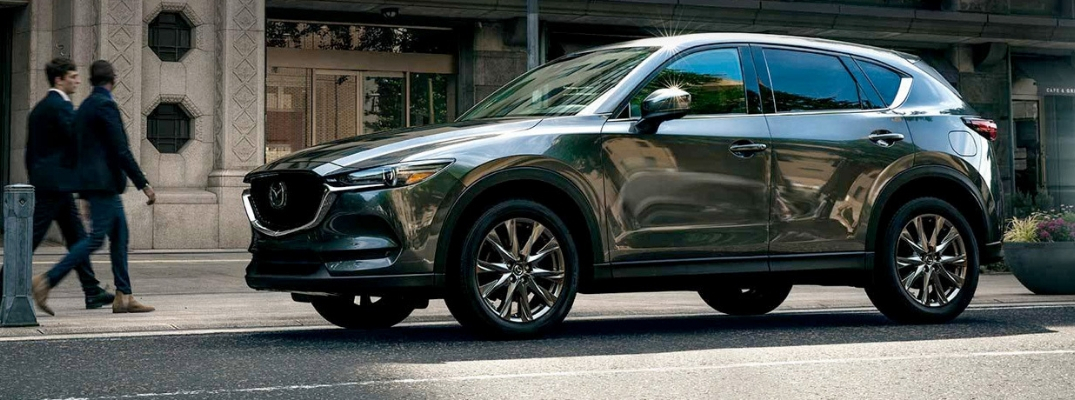 Grey 2019 Mazda CX-5 parked on street
