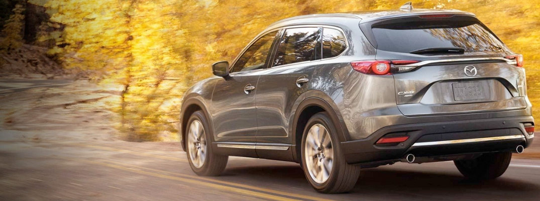 Grey 2019 Mazda CX-9 driving