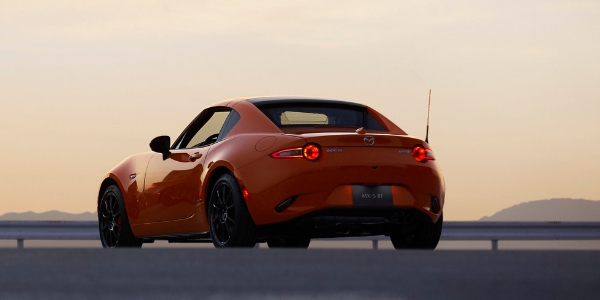 Rear view of 2019 Mazda MX-5 Miata 30th Anniversary