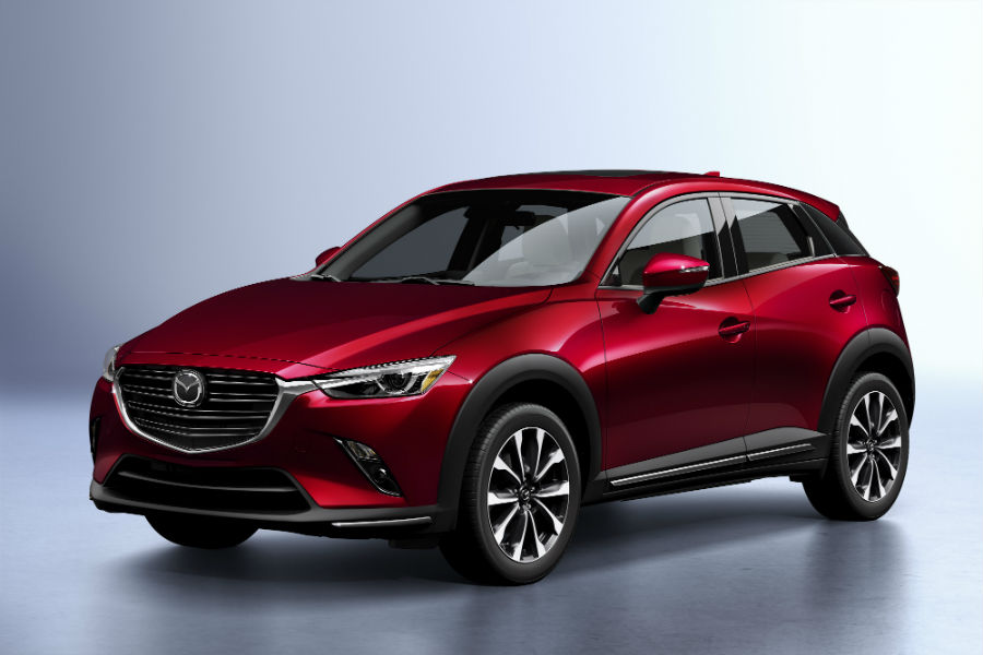 A front-left quarter photo of the 2019 Mazda CX-3.