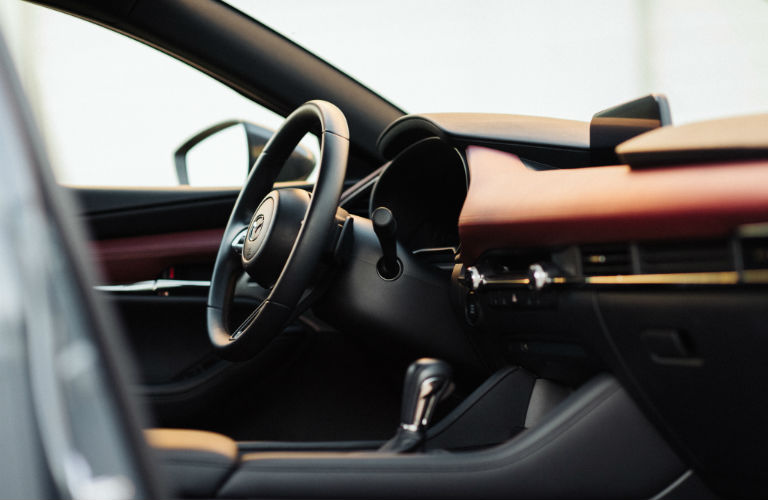 A photo of the interior in the 2020 Mazda3 Hatchback.
