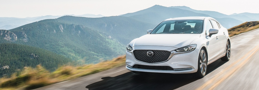 2020 Mazda6 with mountains in background