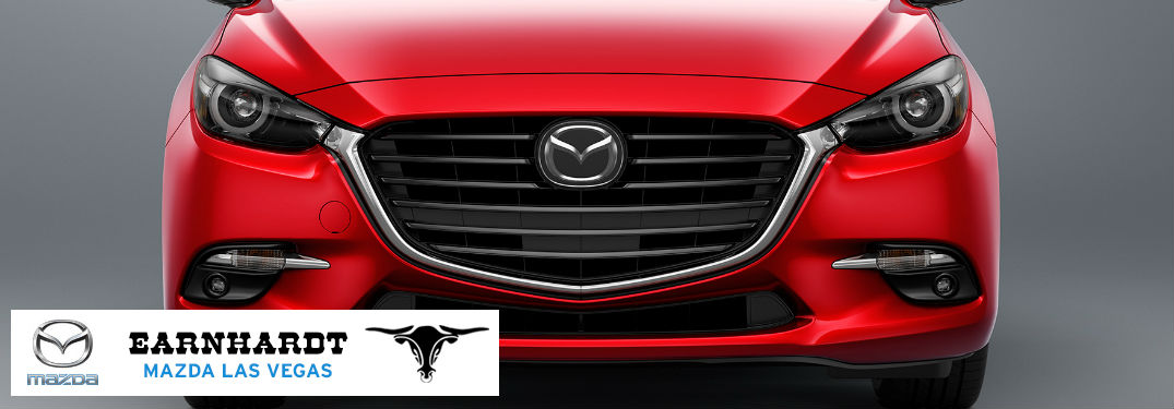 Close Up of 2018 Mazda3 Front Grille with Earnhardt Mazda Logo