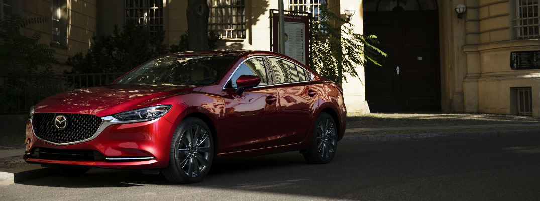 Red 2018 Mazda6 Parked in Shade in Driveway