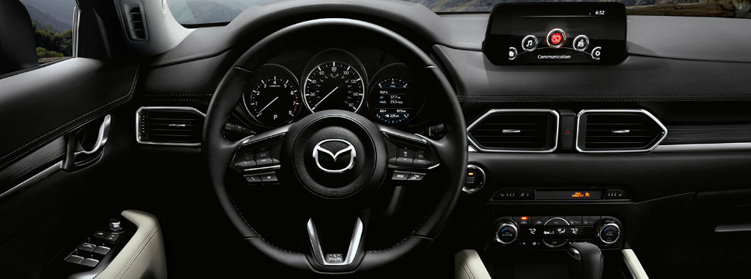 2017 Mazda CX-5 Steering Wheel and MAZDA CONNECT Touchscreen Display