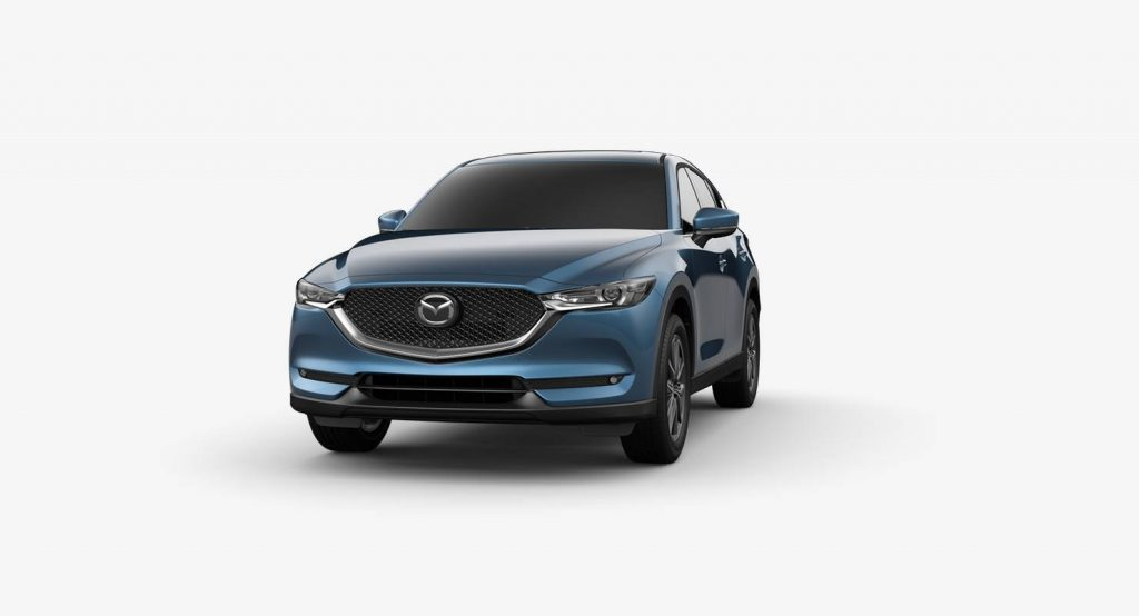 Eternal Blue Mica 2018 Mazda CX-5 Exterior on White Background