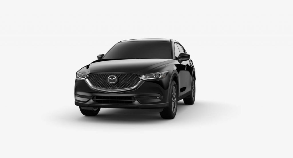 Jet Black Mica 2018 Mazda CX-5 Exterior on White Background